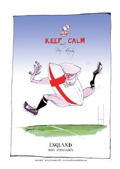 Keep Calm and Play Rugby - signed print
